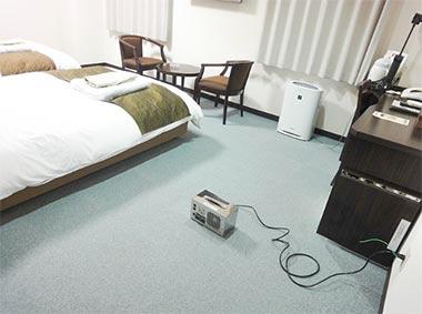 オゾンメイドを利用した客室脱臭手順と効果